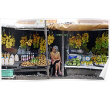 Fruit stall, Tagaytay, Philippines Poster