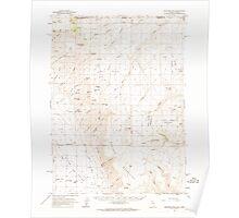 USGS Topo Map Nevada Disaster Peak 320857 1961 62500 Poster