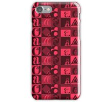 "I'm ""A"" Pattern two (red) iPhone Case/Skin"