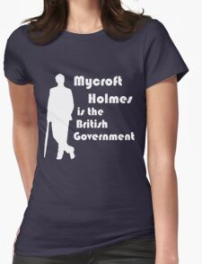 Mycroft Holmes, British Government (White) Womens Fitted T-Shirt