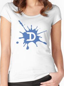 D Splat Women's Fitted Scoop T-Shirt