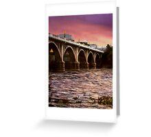 Fishing Under The Bridge Greeting Card