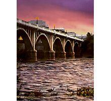 Fishing Under The Bridge Photographic Print