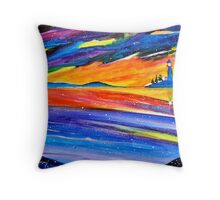 If only a lighthouse could dream of itself...... Throw Pillow