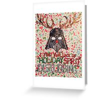 Christmas Star Wars Collage Greeting Card