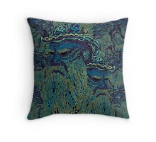 Tolstoy psychedelic wallpaper Throw Pillow