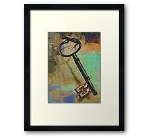 """Old-Fashioned Key"" Digital Art Print Framed Print"