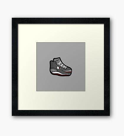 Shoe Monster Framed Print