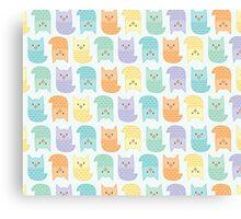 Topsy-Turvy Pastel Owls Canvas Print