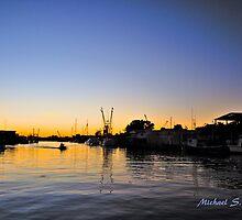 Sponge Docks After Dark by Michael Richter