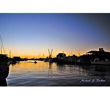 Sponge Docks After Dark Photographic Print