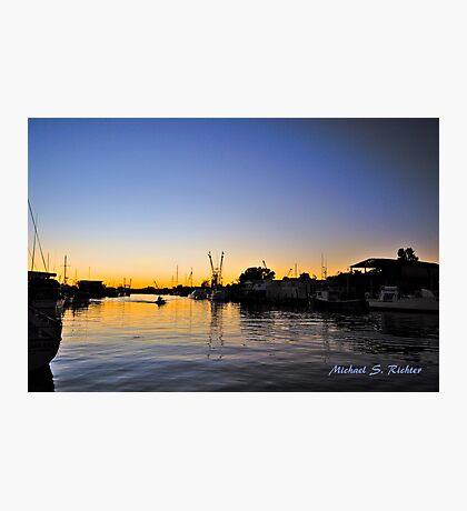 Sponge Docks After Dark Photographic Print
