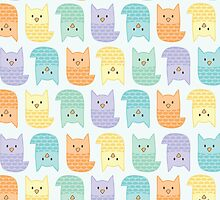 Topsy-Turvy Pastel Owls by heatherwallace