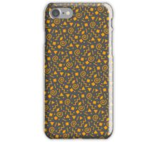 Iconic 80s Pattern - Fall Tones iPhone Case/Skin