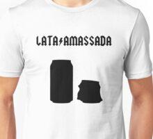 Lata amassada preta Unisex T-Shirt