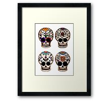 Sugar Skull Set Framed Print