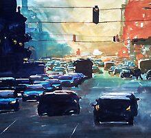 City traffic on a summer evening by ZlatkoMusicArt