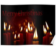 Merry Christmas Candles Poster