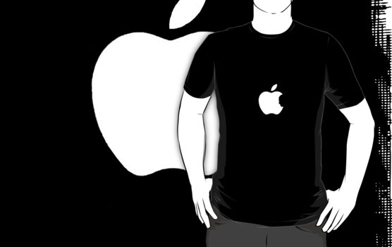 Steve Jobs Apple Logo Shirt by Kellan Reck