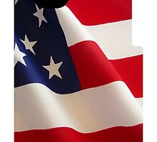 American Flag iPhone 4 Case by kalitarios