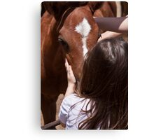 Two Little Girls Canvas Print