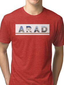 arad text Tri-blend T-Shirt
