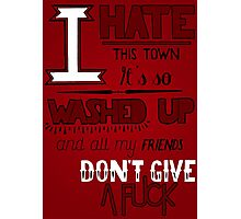 All Signs Point To Lauderdale - Red Photographic Print