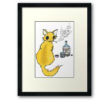 Bar Cat Framed Print