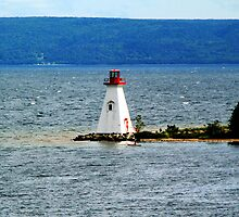 Lighthouse at Baddeck, Bras d'Or Lake, NS by Peggy Berger