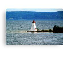 Lighthouse at Baddeck, Bras d'Or Lake, NS Canvas Print