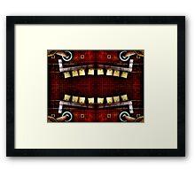 Smiling Seats Framed Print