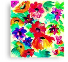 Splashy Flowers! Canvas Print