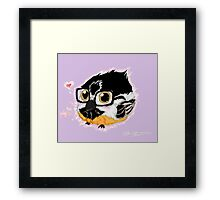 CHICKA-NERD Framed Print