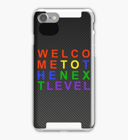 Carbon Fiber SEGA WELCOME TO THE NEXT LEVEL iPhone Case iPhone Case/Skin