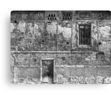 "B&W - Facade home ""Los Fieles"" Canvas Print"