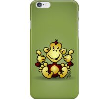 Manic Monkey with 4 thumbs up iPhone Case/Skin