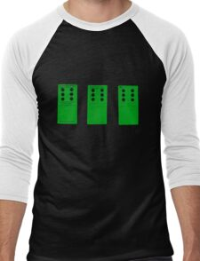 666 Dominos - Green Men's Baseball ¾ T-Shirt
