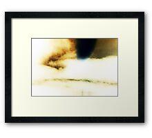 White Sky UFO Framed Print