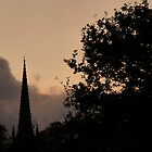 early evening rain clouds over St Michaels Church Kirkham by kathrynashworth