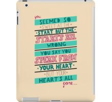 Hearts All Gone (part 2) iPad Case/Skin
