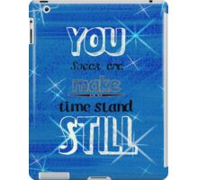 Time standing still iPad Case/Skin