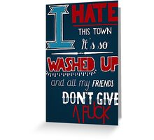 All Signs Point To Lauderdale - Blue Greeting Card