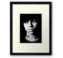 The Girl With The Dragonfly Tattoo Framed Print