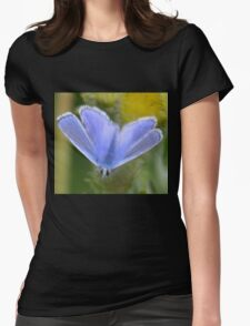 Little Blue, Lyme Coastal path, Dorset UK 2015-07-30 Womens Fitted T-Shirt