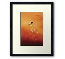 Astronaut in a Dust Storm Framed Print
