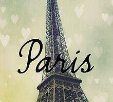 Paris Typography Eiffel Tower by Nicola  Pearson