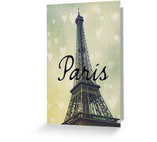 Paris Typography Eiffel Tower Greeting Card