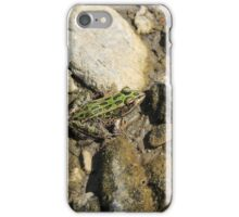 Spotted Frog in Mud iPhone Case/Skin