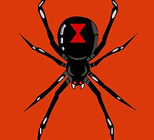 Black widow spider by Richard Holloway