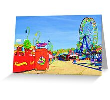 Empty Midway Greeting Card